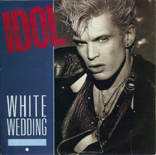 Billy Idol White Wedding Artwork