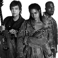 Kanye West,  Paul McCartney & Rihanna FourFiveSeconds Artwork