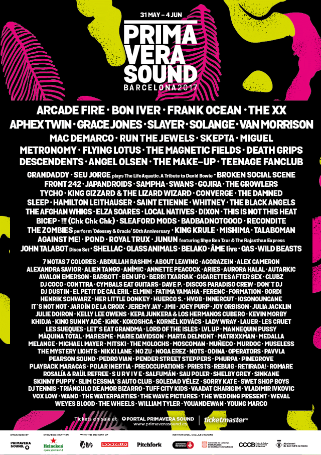 Primavera Sound 2017 Playlist
